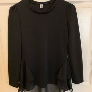 black fancy blouse